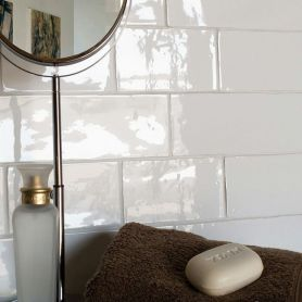 Cottage White Gloss 75x150mm Ceramic Subway Wall Tiles