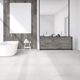 Link Ice Matt Stucco look 600x600 Porcelain Floor & Wall Tiles