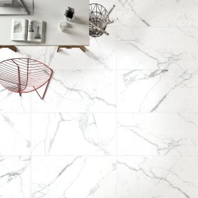 Statuario Bianco Matt 600x1200 Porcelain Floor & wall Tile