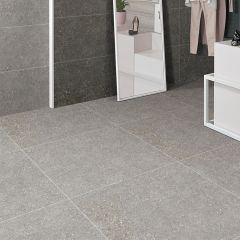 T-Stone 2.0 Ash Matt 600x600mm Porcelain Wall & Floor Tiles