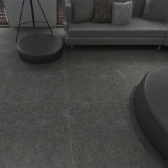 T-Stone 2.0 Charcoal Matt 600x600mm Porcelain Wall & Floor Tiles