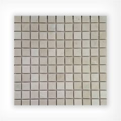 Crema Marfil Tumbled 25x25 on 300x300mm Mosaic