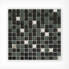 Black Stainless Steel Mix Mosaic 15x15 on 300x300mm