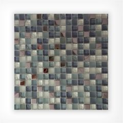 Ice Mix Glass & Stainless Steel Mix Mosaic 15x15 on 300x300mm