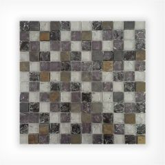 Crystal Glass Slate Mix Mosaic 23x23 on 300x300mm