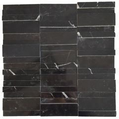 Black Marble Polished 3D Mosaic 300x300mm