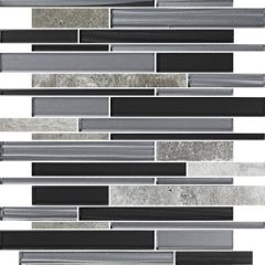 Arki Stone Mixed Bullets Stone & Glass Mix Mosaic 300x300mm