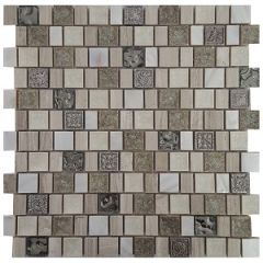 Royale Lead Mix Decorative Mosaic 300x300mm