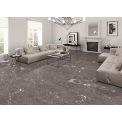 Sicily Anthracite Lappato (semi-Polished) 600x1200mm R10 Porcelain Floor & Wall Tile