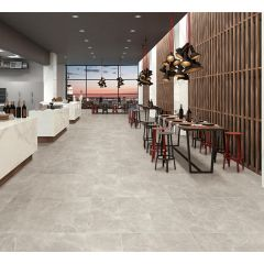 Bora Maxx Grey Polished 600x600mm Wall & Floor Tile