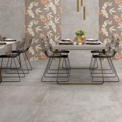 Cement Ecru Polished Finish 600x600mm Porcelain Wall & Floor Tile