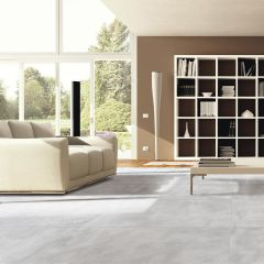 Cement Light Grey Textured Finish 600x600mm Porcelain Wall & Floor Tile