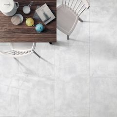 Cement White Textured Finish 300x600mm Porcelain Wall & Floor Tile