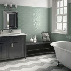 Cottage Jade Gloss 75x300mm Ceramic Subway Wall Tiles