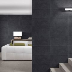 Ground Charcoal Matt 300x600mm Porcelain Wall & Floor Tiles