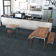 Ground Charcoal Matt 600x600mm Porcelain Wall & Floor Tiles