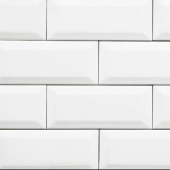 Subway White Gloss Bevelled 100x300mm Ceramic Wall Tiles