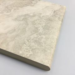 Travertine Grey Porcelain Paver - Bullnose 300x600x20mm