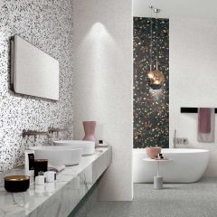 Rainbow Charms Bianco 600x600mm Terrazzo-Look Porcelain Wall & Floor Tiles