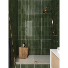 La Riviera Botanical Green Gloss 65x200 Ceramic Subway Wall Tiles