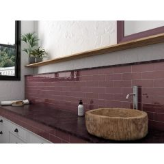 La Riviera Juneberry Gloss 65x200 Ceramic Subway Wall Tiles