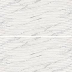 East White Wave Gloss 250x750mm Ceramic Wall Tile