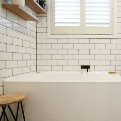 Subway White Gloss Bevelled 100x200mm Ceramic Wall Tile