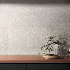 Lombarda Bianco Natural 600x600mm R10 Terrazzo Look Porcelain Wall & Floor Tiles