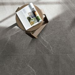 Limestone Dark Grey External 600x600mm Porcelain Floor Tile R11
