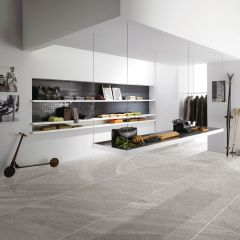 Limestone Light Grey External 300x600mm Porcelain Floor Tile R11