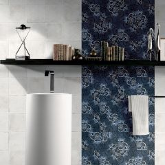 Vintage Blue #9 Matt R9 200x200mm Decorative Porcelain Wall & Floor Tiles