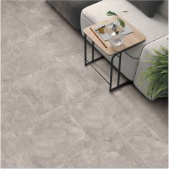 Mirage White Decor 600x600mm Porcelain Wall & Floor Tile