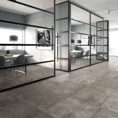 Mirage Dark Grey Matt 300x600mm Porcelain Wall & Floor Tile