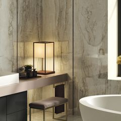 Oro Bianco Polished 300x600mm Travertine-look Porcelain Wall & Floor Tile