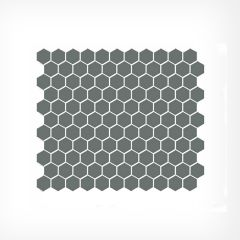 Grey Gloss Small Hexagonal Mosaic Tiles