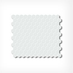 Small Honeycomb White Matt  Hexagonal Mosaic Tiles