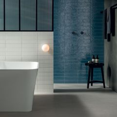 Regoli Blue Matt Subway 75x300 Porcelain Wall Tile