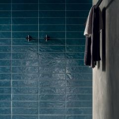 Regoli Blue Gloss Subway 75x300 Porcelain Wall Tile
