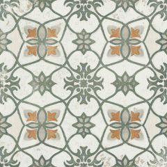Vintage Green #19 Matt R9 200x200mm Decorative Porcelain Wall & Floor Tiles