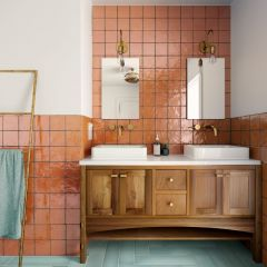 La Riviera Ginger (Orange) Gloss 65x200 Ceramic Subway Wall Tiles