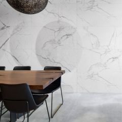 Statuario Bianco Slate Textured Finish 600x1200mm Porcelain Wall & Floor Tiles