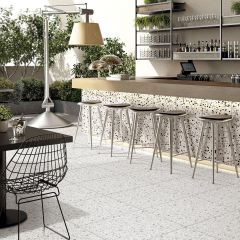 Rainbow Charms Grey Matt 600x600mm Terrazzo-Look Porcelain Wall & Floor Tiles