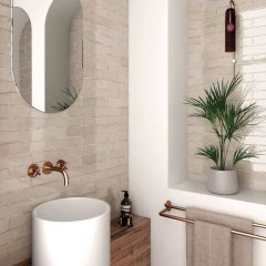 Tribeca Oatmeal (Cream) Gloss 60x246 Porcelain Subway Wall Tiles