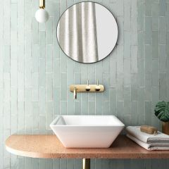 Tribeca Seaglass Mint Gloss 60x246 Porcelain Subway Wall Tiles