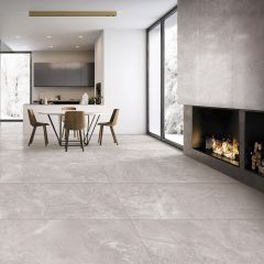 Tru Stone Light Grey Matt 600x600mm Porcelain Wall & Floor Tiles