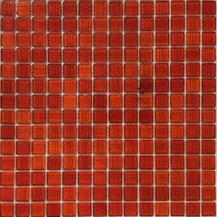 Bright Red Trend Glass Mosaic 327x327mm Sheet