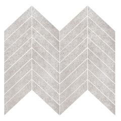 T-Stone Light Grey Chevron Porcelain Mosaic